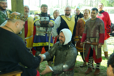 Grimbaldus Bacon's knighting announced