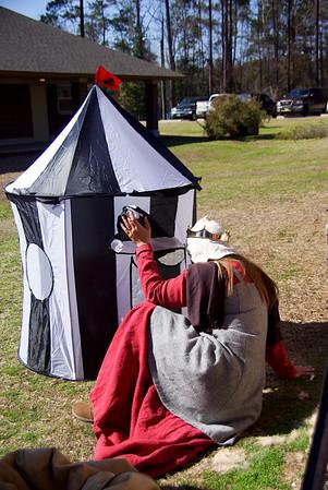 Kimiko checks out Harry's tent