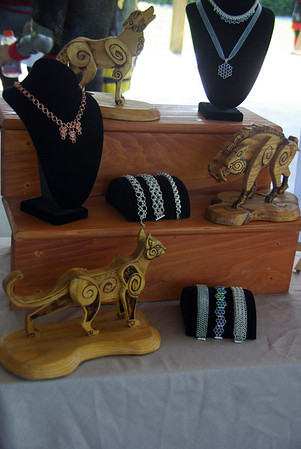 Wood carving and Jewelry display