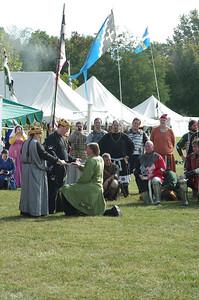 Knighting of Hrothgar