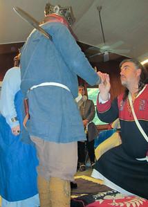 Sir Faelan swearing fealty
