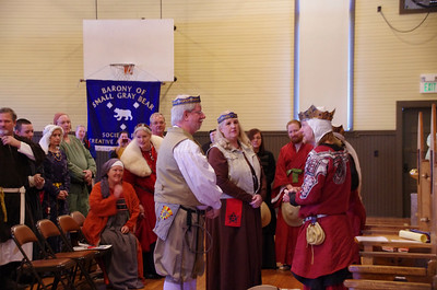 new Baron and Baroness of Small Grey Bear Archer and Fronicka