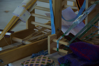 Tablet weaving display by Eowyn