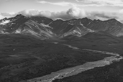 Denali Valley B&W