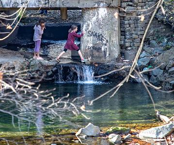 Jumpin' the creek