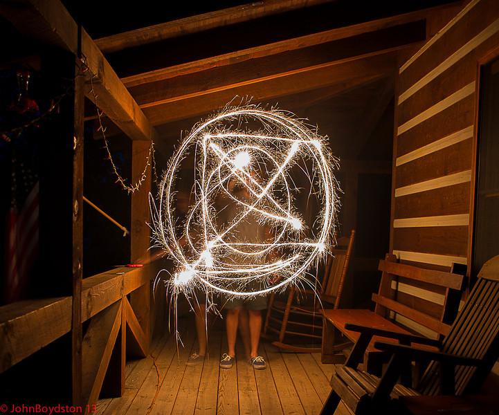 Sparkler, Fourth of July