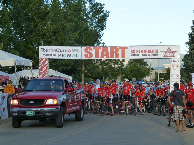 The start of the Tour de Cure, metric century