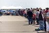 Line to meet the Patrouille de France flight display team