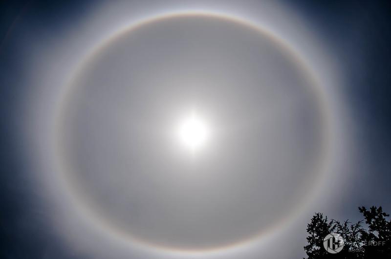 Sun Halo Over Seattle