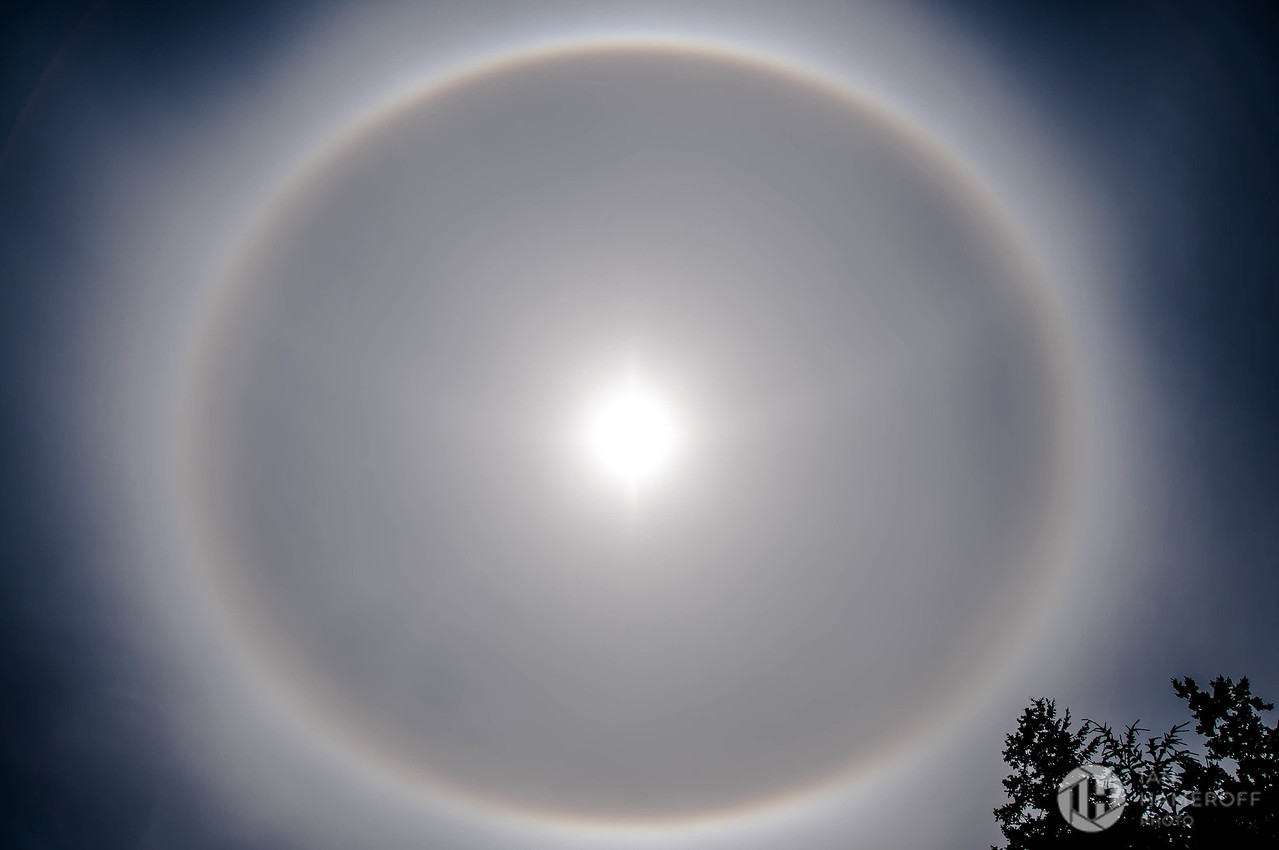 Sun Halo Over Seattle