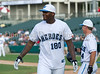 Dallas Cowboys tight end Martellus Bennett at the Reebok 2011 Heroes Celebrity Baseball Event