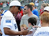Former Dallas Cowboy Everson Walls signs autographs at the Reebok 2011 Heroes Celebrity Baseball Event