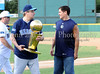 Donnie Nelson and Mav's owner Mark Cuban at at the Reebok 2011 Heroes Celebrity Baseball Event