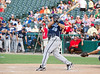 Former Texas Ranger Kevin Mench hits a home run in the Reebok 2011 Heroes Celebrity Baseball Event