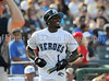 Dallas Cowboys wide receiver Dez Bryant bats at the Reebok 2011 Heroes Celebrity Baseball Event