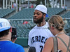 Tampa Bay Buccaneer Michael Bennett at the Reebok 2011 Heroes Celebrity Baseball EventReebok 2011 Heroes Celebrity Baseball Event