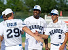 Dallas Cowboy Martellus Bennett and former Dallas Star Mike Modano at the Reebok 2011 Heroes Celebrity Baseball Event