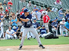 Actor Geoff Stults bats at the Reebok 2011 Heroes Celebrity Baseball Event