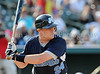 Chris Martin bats at the Reebok 2011 Heroes Celebrity Baseball Event
