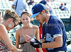 Actor Dave Annable signs autographs at the Reebok 2011 Heroes Celebrity Baseball Event