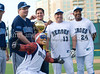 Donnie Nelson, Mark Cuban, Danny Bollinger and Everson Walls at the Reebok 2011 Heroes Celebrity Baseball Event