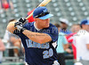 Former Texas Ranger Kevin Mench prepares to bat at the Reebok 2011 Heroes Celebrity Baseball Event
