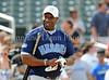 Actor Michael Clarke Duncan bats at the Reebok 2011 Heroes Celebrity Baseball Event