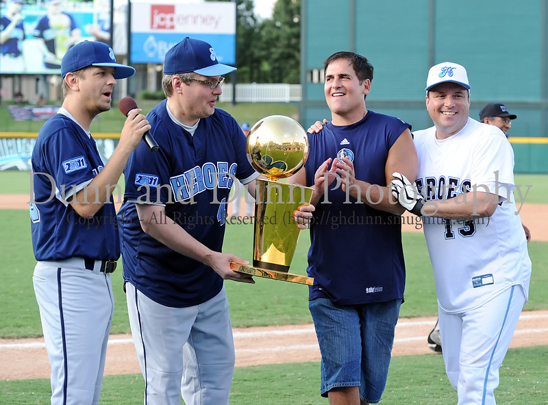 """Jeff """"Skin"""" Wade, Donnie Nelson, Mark Cuban and Danny Bollinger at the Reebok 2011 Heroes Celebrity Baseball Event"""
