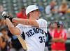 Rockwall High School senior Steve Bean bats at the Reebok 2011 Heroes Celebrity Baseball Event