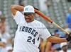 Former Dallas Cowboy Everson Walls bats at the Reebok 2011 Heroes Celebrity Baseball Event