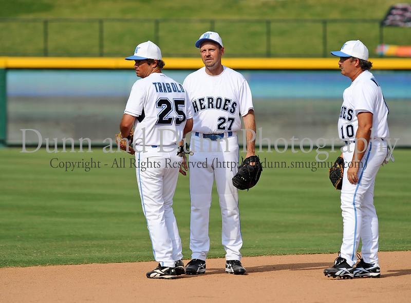 John Trabold and Tye Williams at the Reebok 2011 Heroes Celebrity Baseball Event