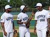 Michael Bennett, Dez Bryant and Martellus Bennett at the Reebok 2011 Heroes Celebrity Baseball Event