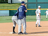 Mavericks President Donnie Nelson coaches third during the Reebok 2011 Heroes Celebrity Baseball Event
