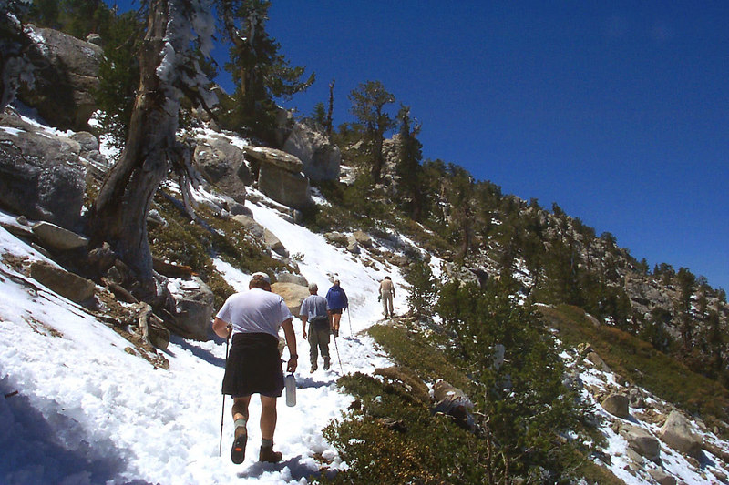 We dropped our packs and did a side trip to Tahquitz Peak.