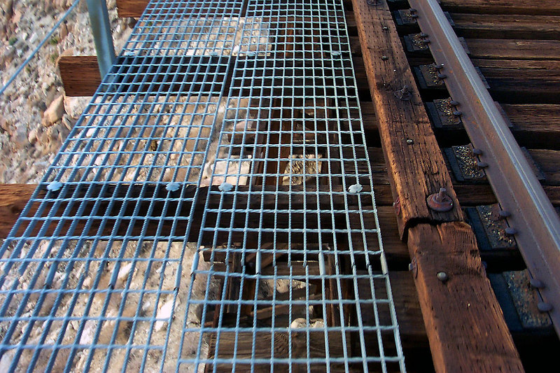 Walking on these grates was a little spooky 200 feet up.