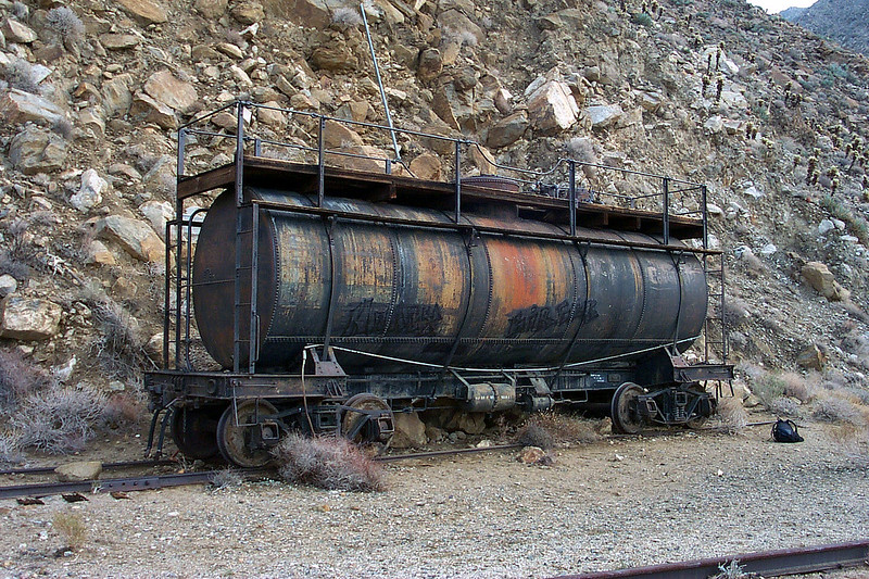 This tank car was on a side track near the trestle.