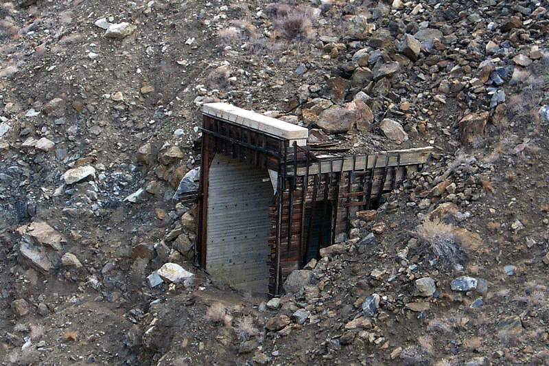 The remains of a tunnel next to the big testle.