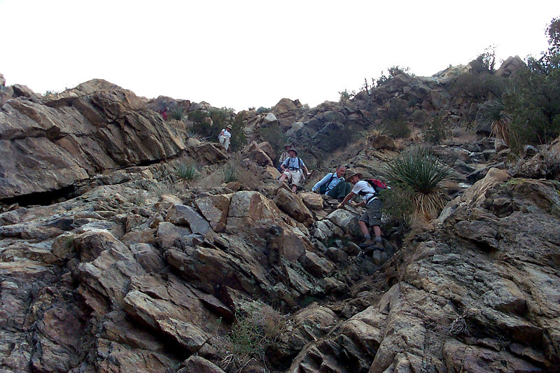 It was steep down and mostly rock hopping the rest of the way.