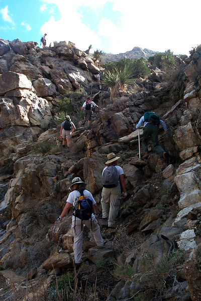 The last climb we had to do.