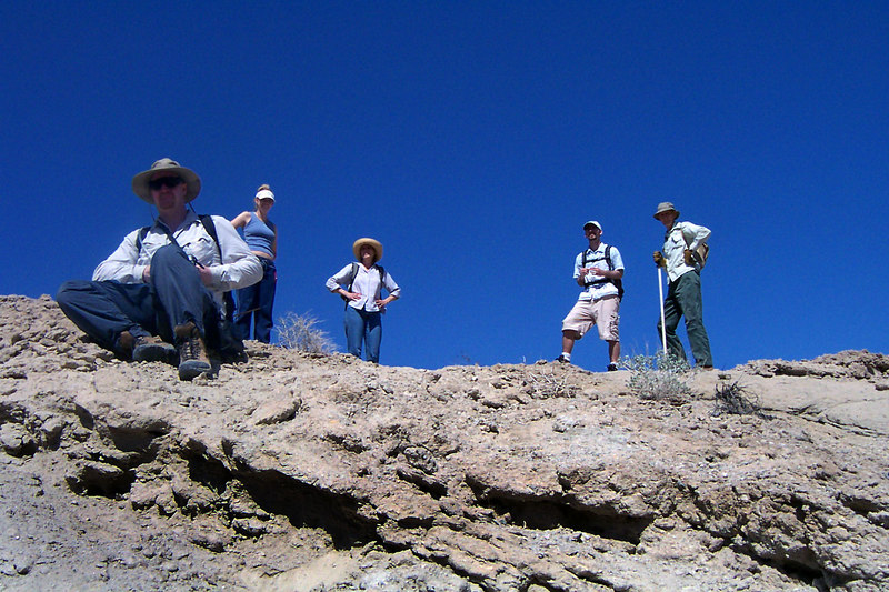 The group waiting for me on the ridge.