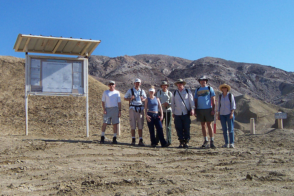 Joe(me), Dave, Liz, Chuck, Dave, Ray and Carol at the start of the hike to the windcaves.