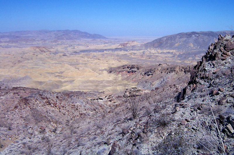 View of a section of the Carrizo Badlands.
