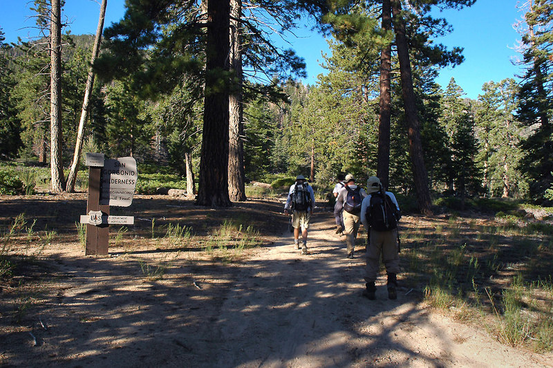 We entered the San Gorgonio Wildernes near the start of the hike.