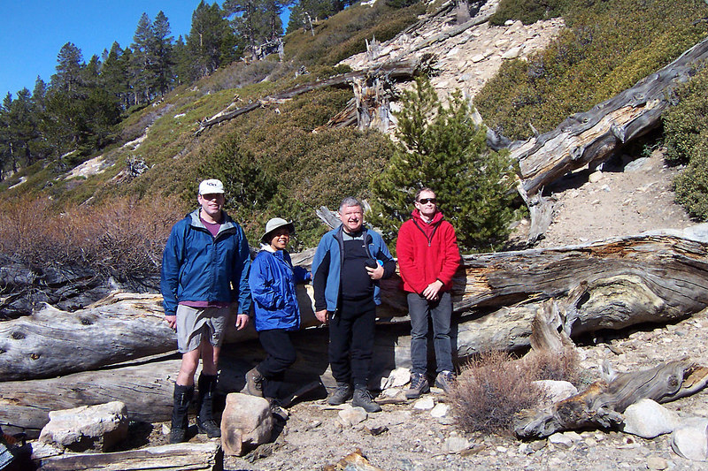 Ken, Juliet, Ron and Gary stayed to climb San Gorgonio, while Sooz, Kathy and myself hiked out.