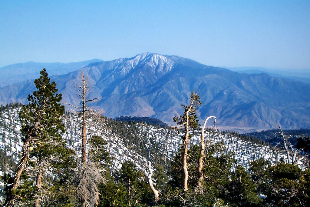 Zoomed in on San Jacinto Peak as we start the hike back to our camp site.