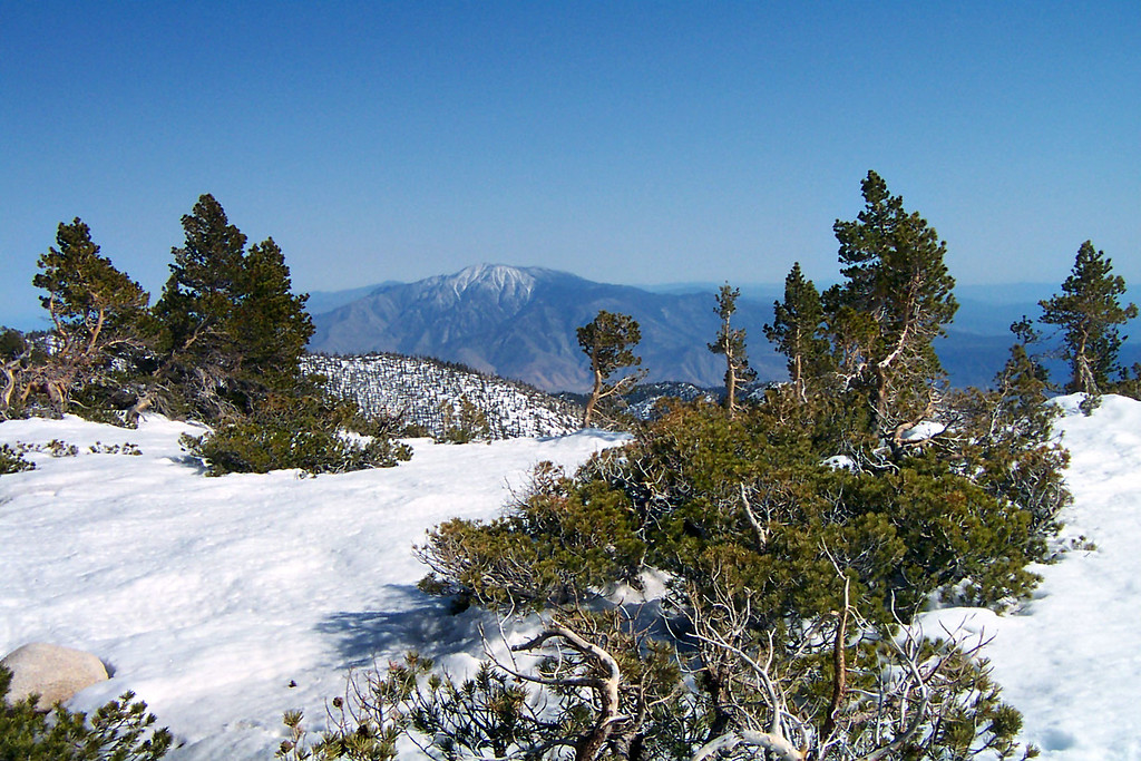A view of San Jacinto Peak 24 miles to the southeast, we got lucky and had a super clear day.