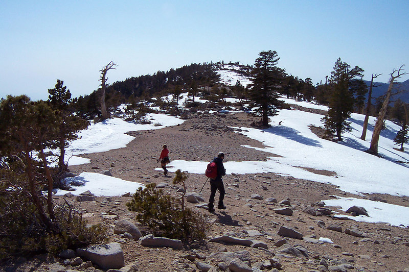 Once we made it up onto the ridge, it was easy going to the summit. That's Dobbs up ahead.