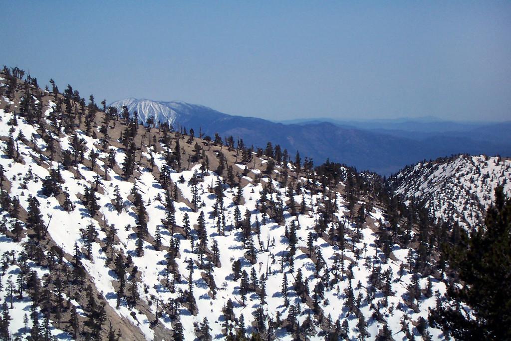 As we neared the ridge, San Jacinto Peak showed it's snowy summit.