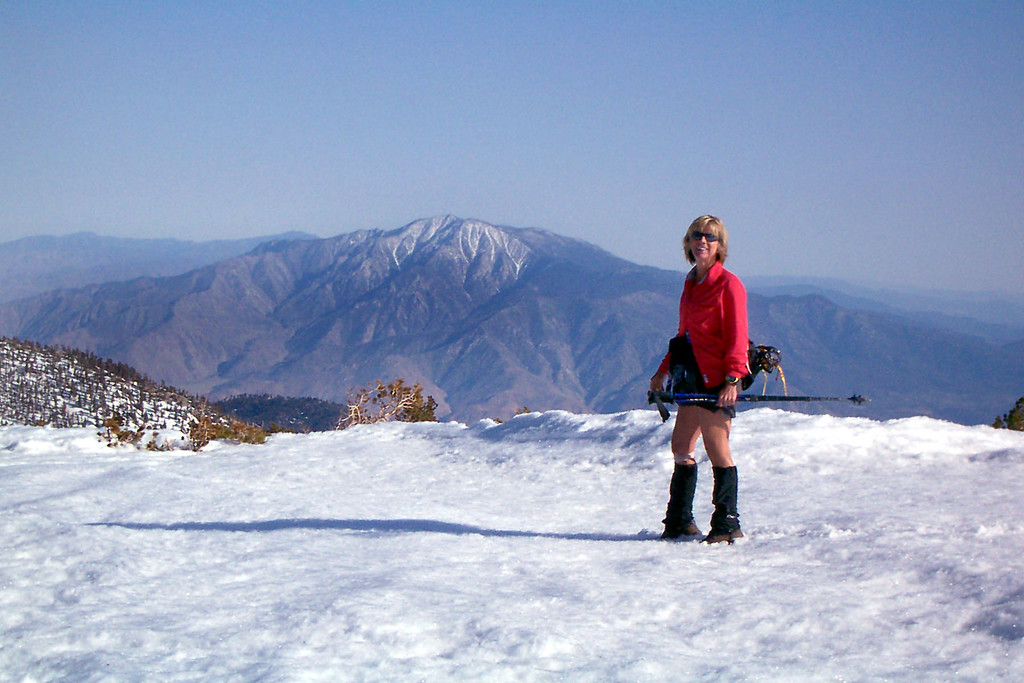 Sooz with her favorite mountain.