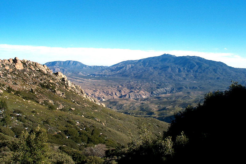 View to the east from the PCT.